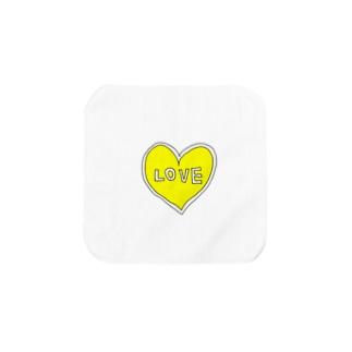 きいろいハートiPhone Towel handkerchiefs