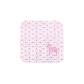 【ダーラナホース】麻の葉:桃色 Towel handkerchiefs