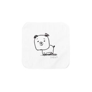 猫派が描いた犬 Towel handkerchiefs