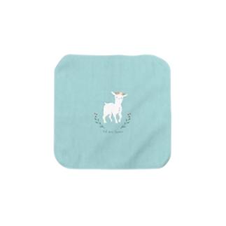 ヤギと花 Towel handkerchiefs