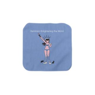 Feminism Enlightening the World タオルハンカチS Towel handkerchiefs