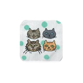 猫ちゃんゆるフェイス Towel handkerchiefs