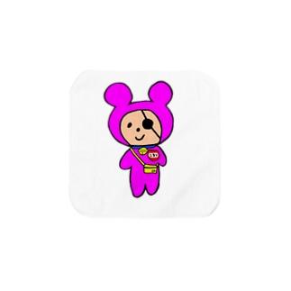 ショッキングピンク幼稚園児コロリ Towel handkerchiefs