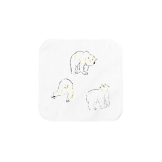 3びきのpolar bear Towel handkerchiefs