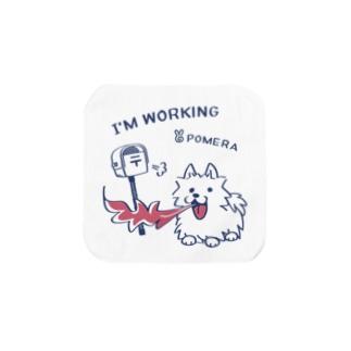 CT47 POMERA_3 I'M WORKING Towel Handkerchief