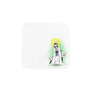 「みな☆の」のルルドのマリア様 Towel handkerchiefs