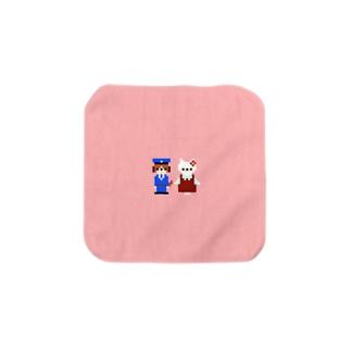 犬のおまわりさんと迷子の子猫ちゃん Towel handkerchiefs