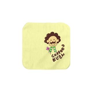 コーヒー豆おじさん☕️タオルハンカチ Towel handkerchiefs