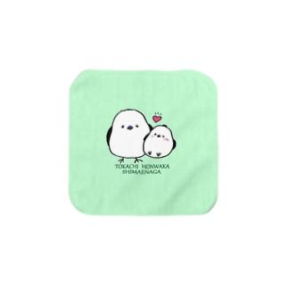 十勝ほんわかシマエナガ【Angel】 Towel Handkerchief
