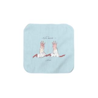 あなたの手が大好き - ハンドタオル Towel handkerchiefs