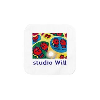 studio Will×INGRIDタオルハンカチS_B Towel handkerchiefs