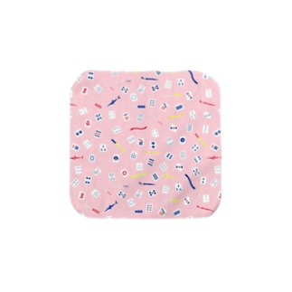 tile style (赤) Towel handkerchiefs