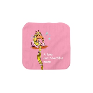 A long and beautiful mane Towel handkerchiefs