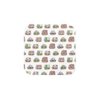 YUMIイラスト工房 オフィシャルののりもの いっぱい タオルはんけち Towel handkerchiefs