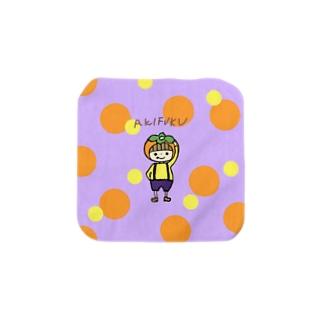 アキフク(むらさき) Towel handkerchiefs