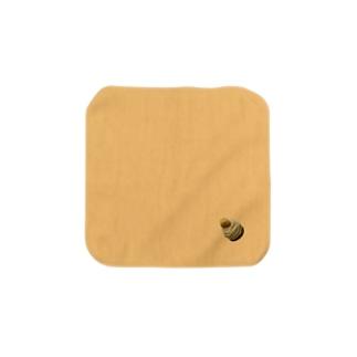毛糸のモンブラン 黄 タオルハンカチ Towel handkerchiefs