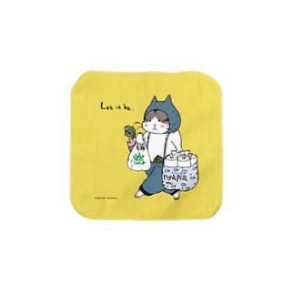 ほっかむねこ屋(アトリエほっかむ)のお買い物ねこ Towel handkerchiefs