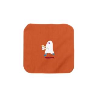 わくわくもぐもぐタイムのおばけちゃん / カップ麺 Towel handkerchiefs