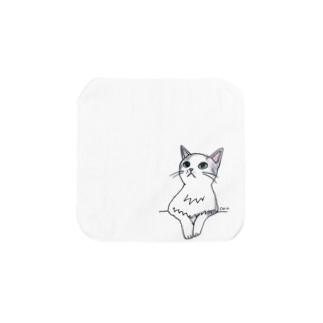 100nyans029.purucat Towel handkerchiefs