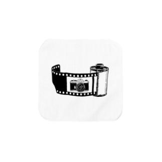 Film&Camera(黒) Towel handkerchiefs