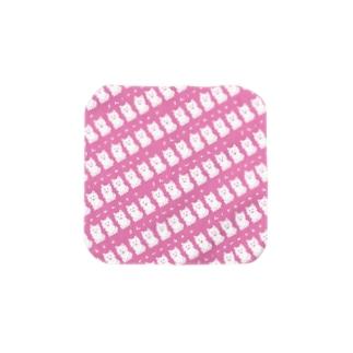 しろわんこパターン(いちごミルク)タオル Towel handkerchiefs