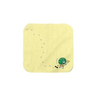 ごろごろにゃんすけのそそくささん Towel handkerchiefs