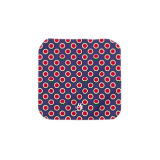 8SU2007_A 水玉模様は輪切りのスイカ スイカの冒険前夜 Towel handkerchiefs