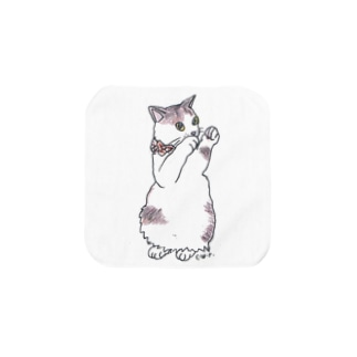 100nyans046.maneki_luckycat Towel handkerchiefs