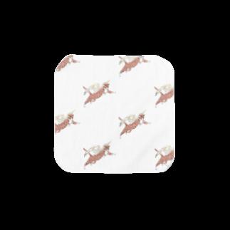 すがたの飛べ飛べ猫さん Towel handkerchiefs