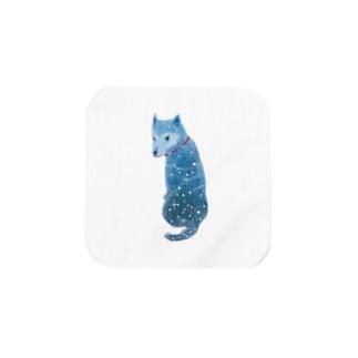 柴犬『流れ星の夜の夢』 Towel handkerchiefs