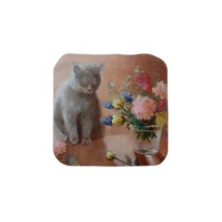 猫のもっちゃん Towel handkerchiefs