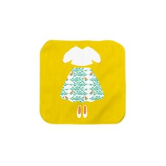 小鳥スカート Towel handkerchiefs