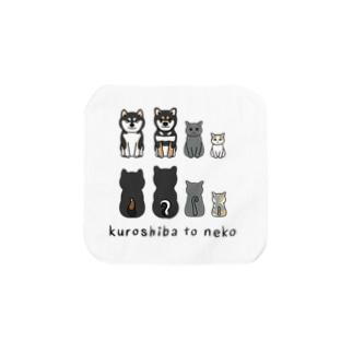 kuroshiba to neko Towel handkerchiefs