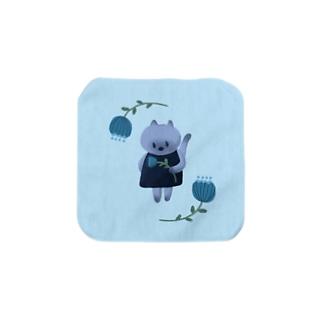 おはなとねこ Towel handkerchiefs