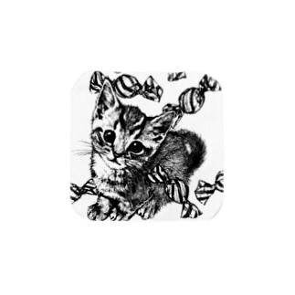 Candy Cat Towel handkerchiefs
