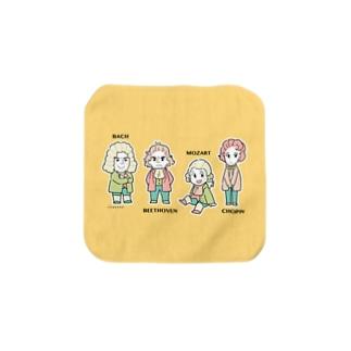作曲家タオル4人組 Towel handkerchiefs