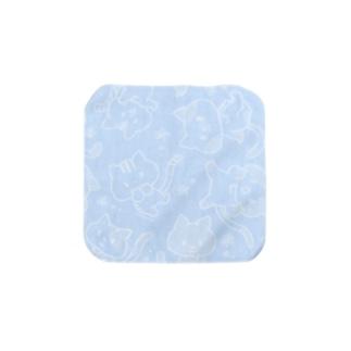 ねこねこねこ柄(ブルー) Towel handkerchiefs