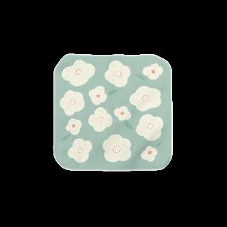 さちこのお花( グリーン ) Towel handkerchiefs