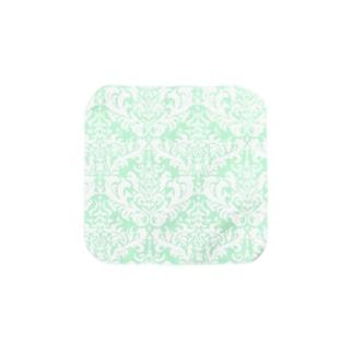 ダマスク柄グリーン Towel handkerchiefs