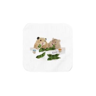 【KAMAP】枝豆とハムスター兄弟 Towel handkerchiefs