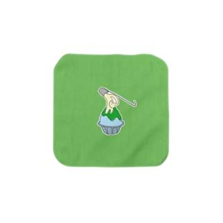 練乳ねこかき氷(メロン/抹茶) Towel handkerchiefs