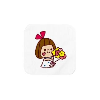 花束リボンちゃん Towel handkerchiefs