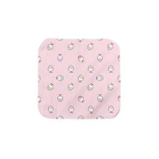 かき氷のハンカチ(ピンク) Towel handkerchiefs
