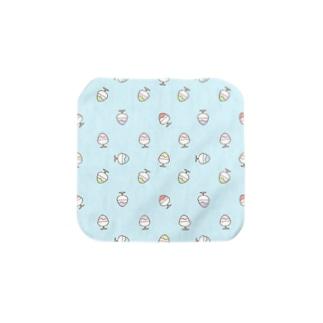かき氷のハンカチ (ブルー) Towel handkerchiefs