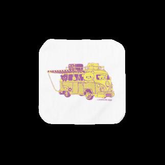 おやまくまオフィシャルWEBSHOP:SUZURI店のドライブおやまくまタオルハンカチ