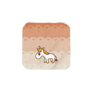 orange unicorn♡ Towel handkerchiefs
