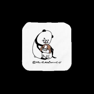 スティーヴン★スピルハンバーグの部屋のパンダと犬 タオルハンカチ