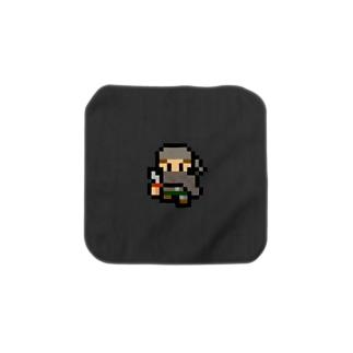 ドット絵な盗賊(無地) Towel handkerchiefs