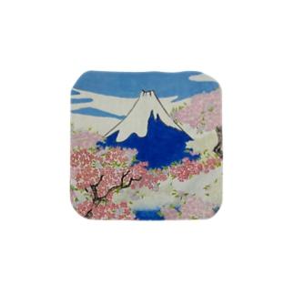 息を呑むような自然に照らし出された浮世絵の精神:Spirit of Ukiyo-e Illuminated by Stunning Nature Towel handkerchiefs