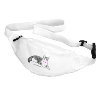 ネクタイ猫ちゃん Belt Bag